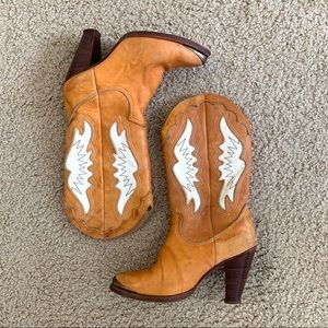 Vintage Zodiac Leather Heeled Cowboy Boots